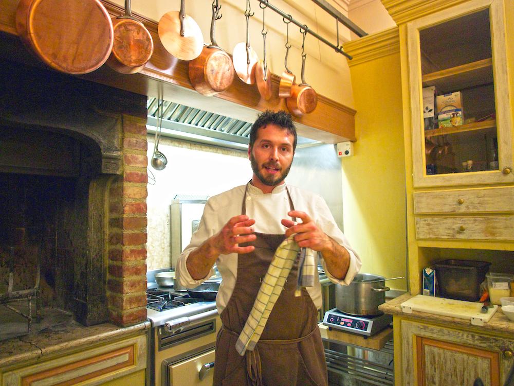 chef Alessandro Battisti, gourmet Tuscan cuisine,