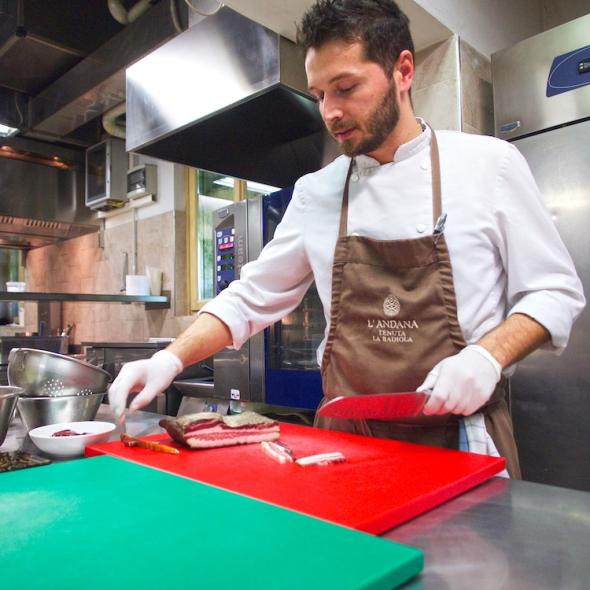 chef Alessandro Battisti, Italian cuisine