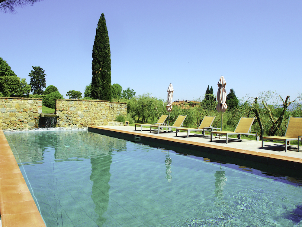 swimming pool in Tuscany, Villa Fontelunga