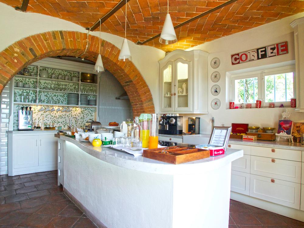 gourmet breakfast in Italy, Villa Fontelunga Tuscany