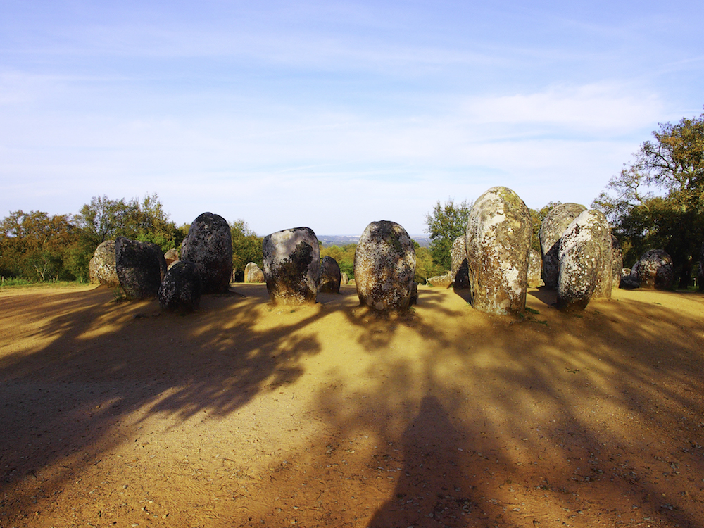 menhirs, megalithic site Evora