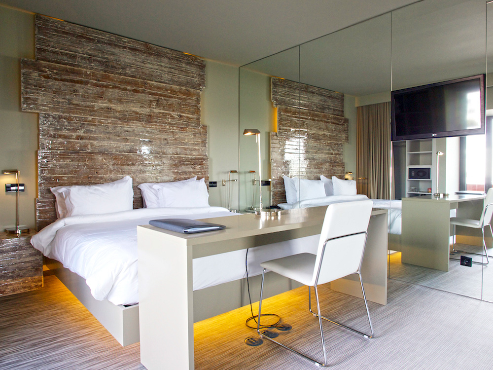 contemporary bedroom, Portuguese luxury hotel
