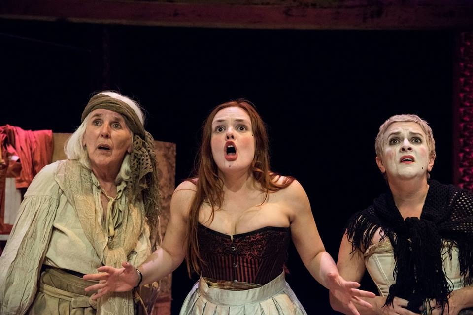 women struggle in theatre, Island Arts Centre Lisburn