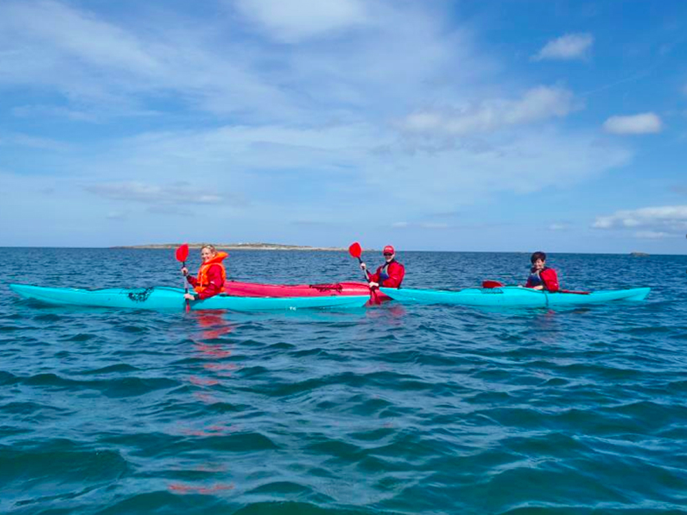 sea kayaking, sailing, island hopping