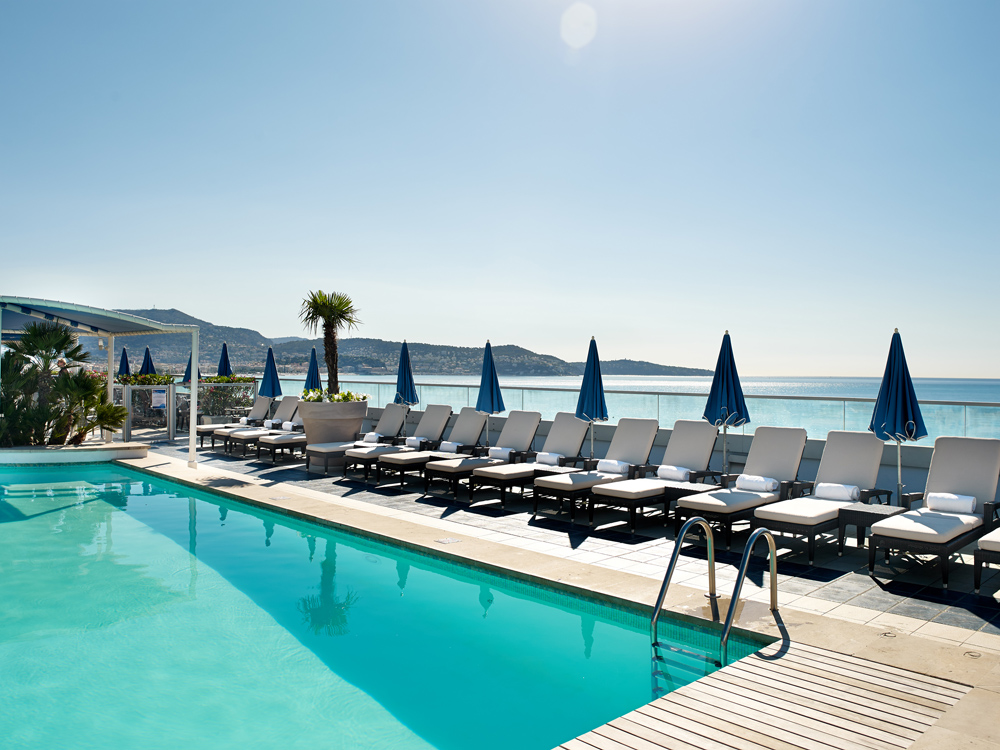 pool terrace on French Riviera, best swimming pool in NIce