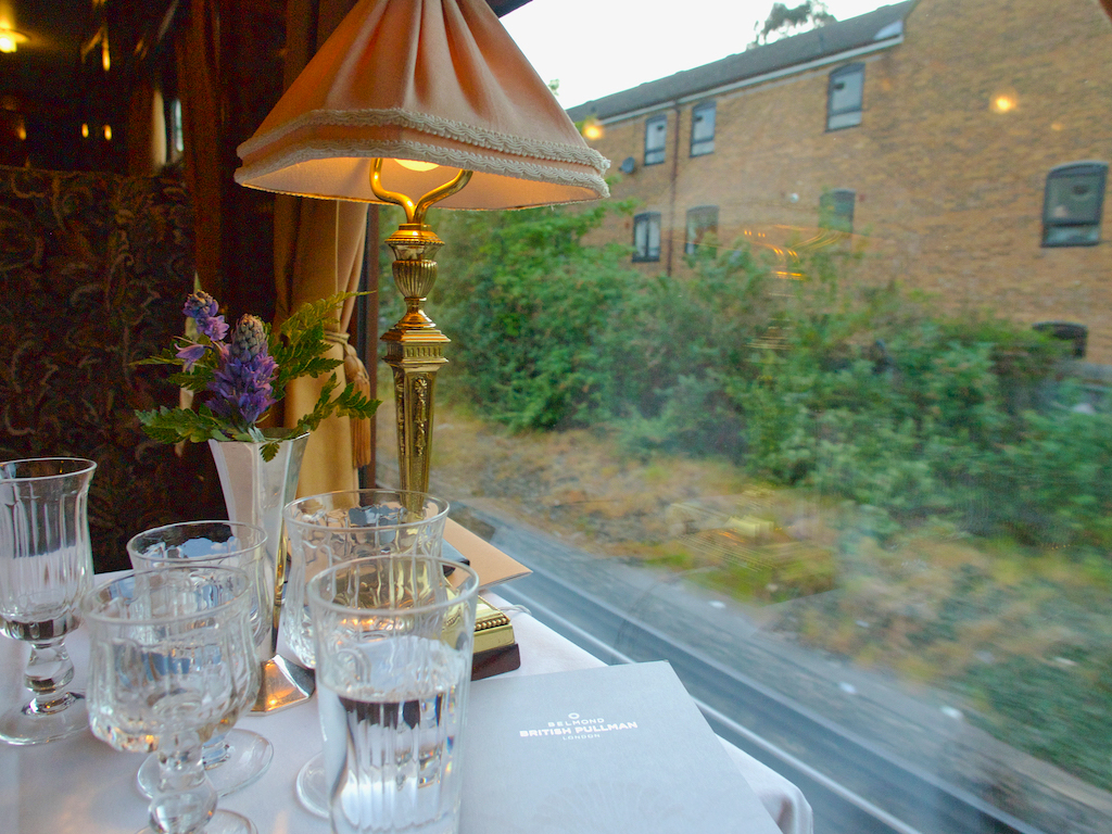 Belmond luxury train, fine dining in London