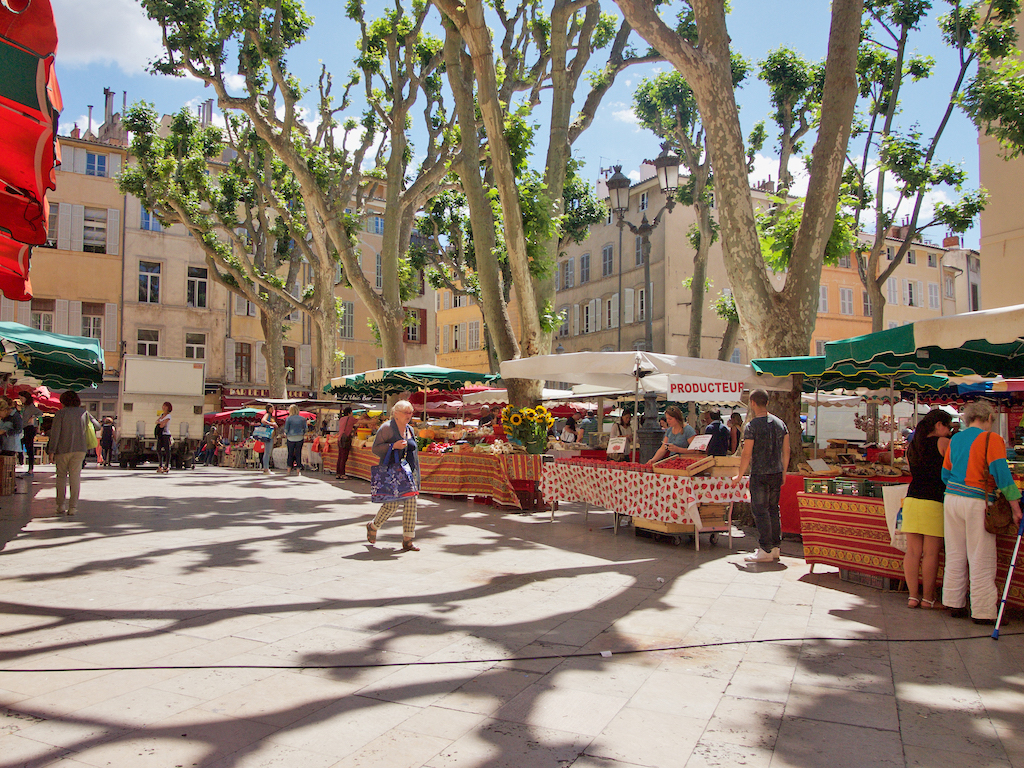 Aix en Provence markets, visit Aix en Provence