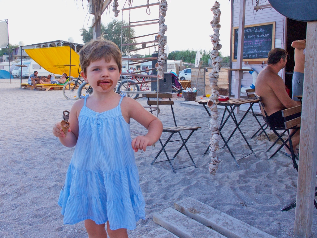 summer beach with books, Black Sea coast