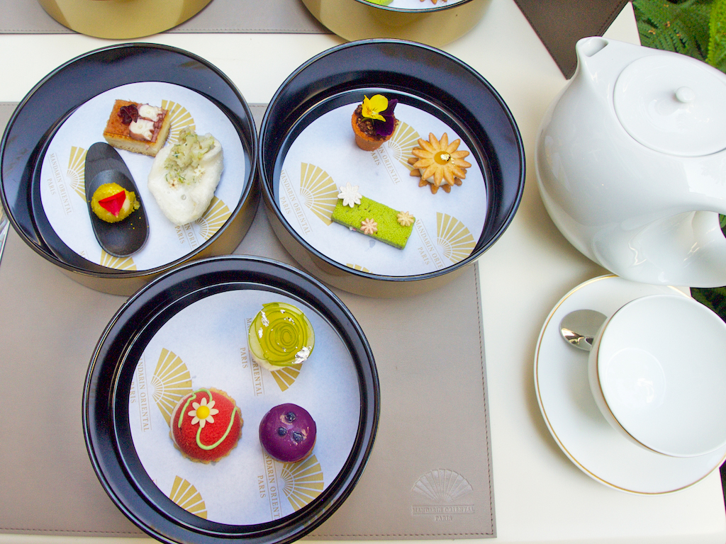 Mandarin Oriental Paris, afternoon tea at Camelia restaurant