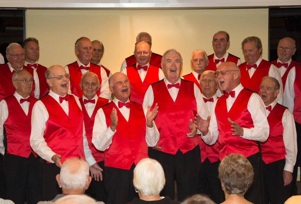 The Paradise Coastmen Barbershop Chorus, music in Naples Florida