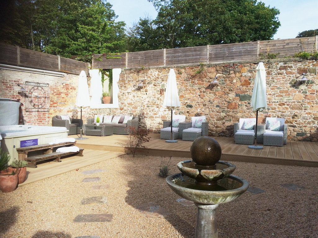 best spas on Jersey Island, luxury spa at Longueville Manor