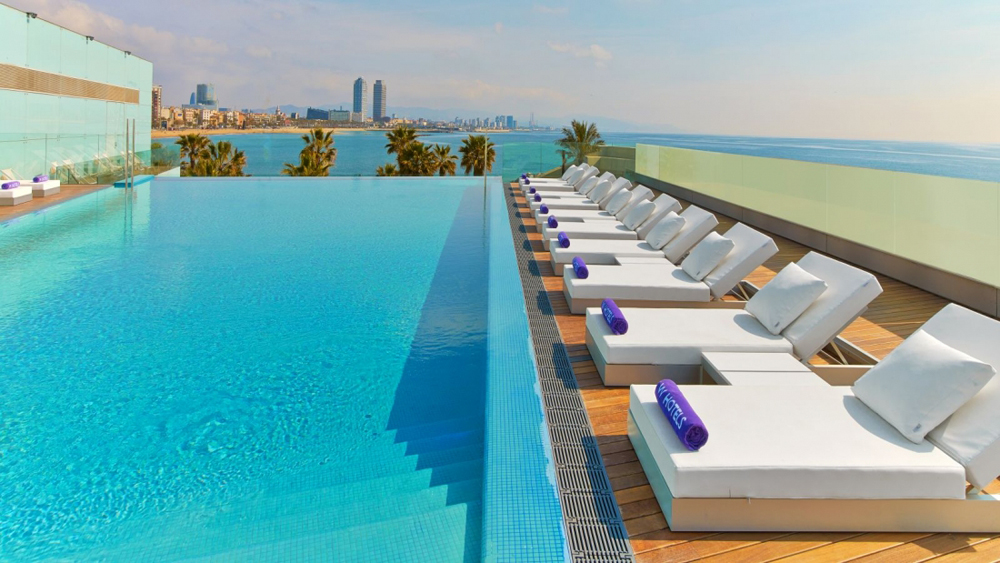rooftop pool Barcelona, luxury hotels Barcelona
