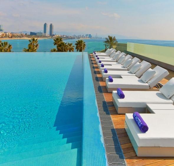 rooftop pool Barcelona, luxury hotels Barcelona