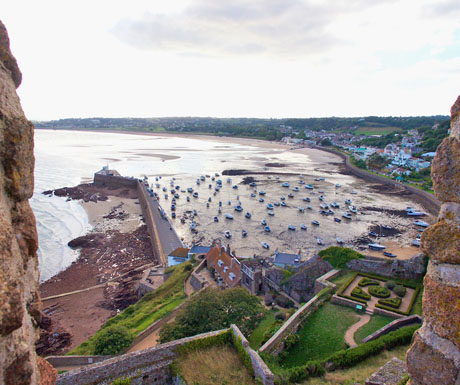 scenic drives on Jersey Island, Mont Orgueil castle