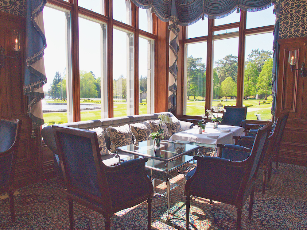 ashford castle, dining in a castle