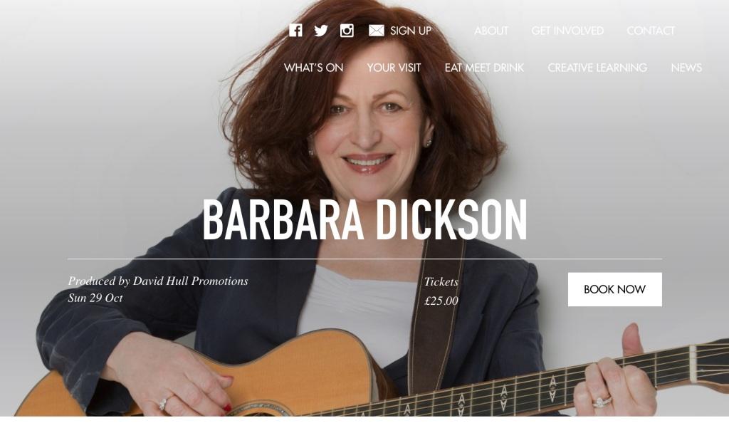 Barbara Dickson Lyric Theatre, Belfast theatre