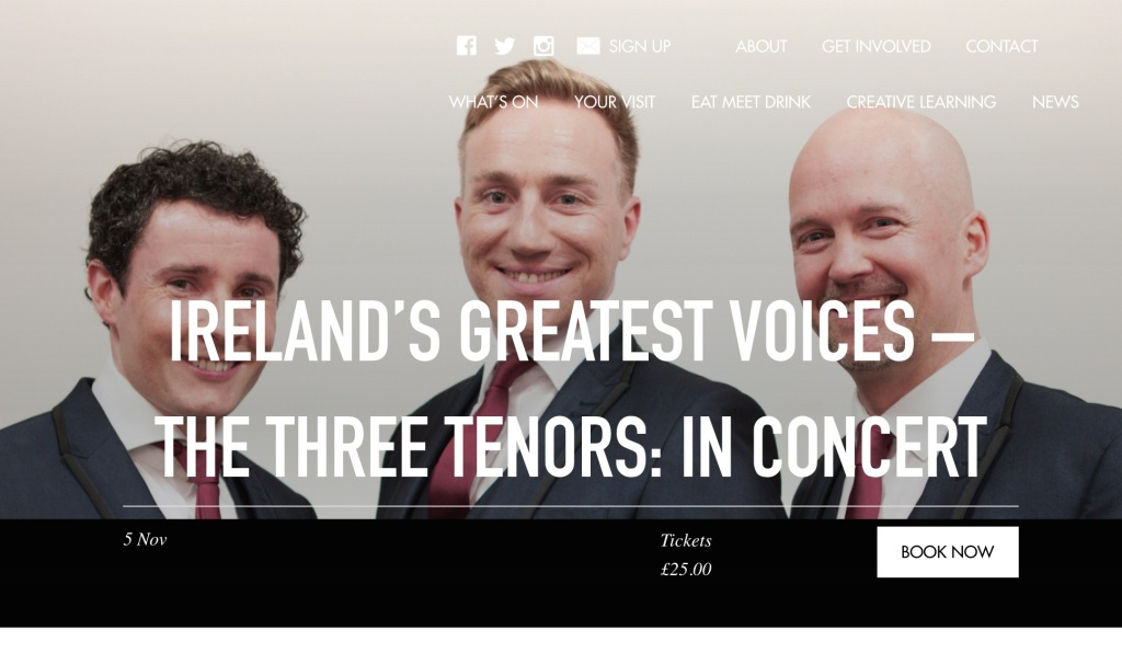 Three tenors, Lyric theatre belfast