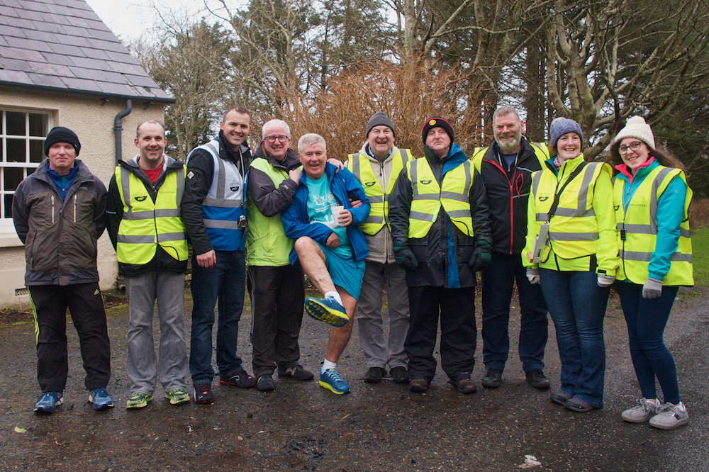 parkrun Falcarragh in Donegal, volunteers cheers at parkrun Falcarragh, hoka one one running shoes