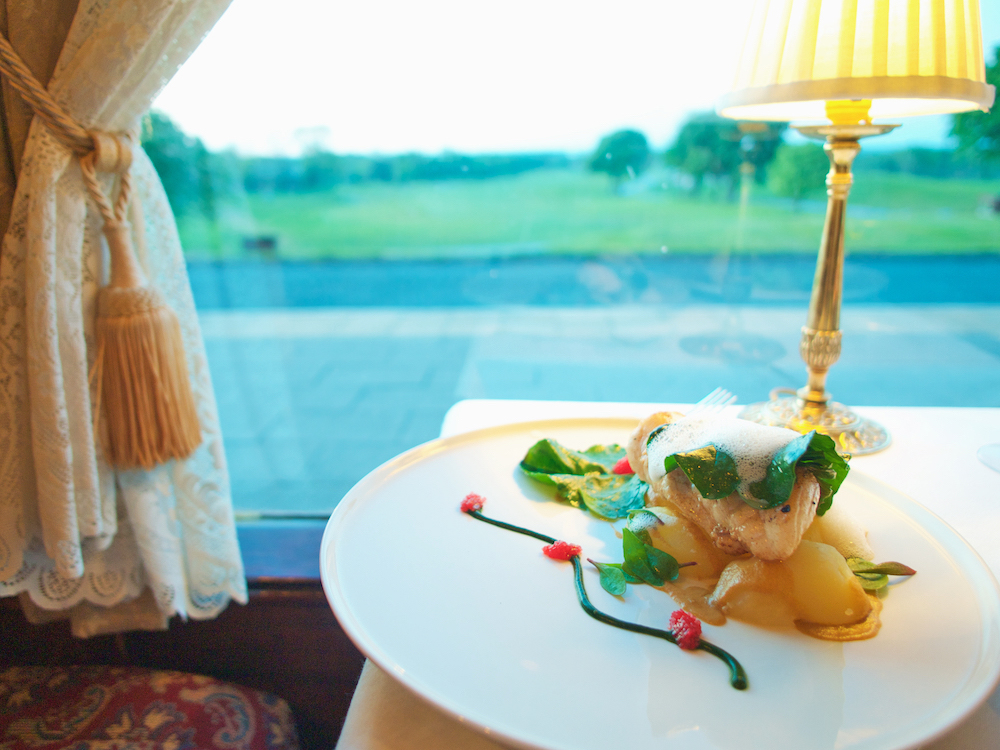 fine dining in Galway Ireland in a Pullman carriage