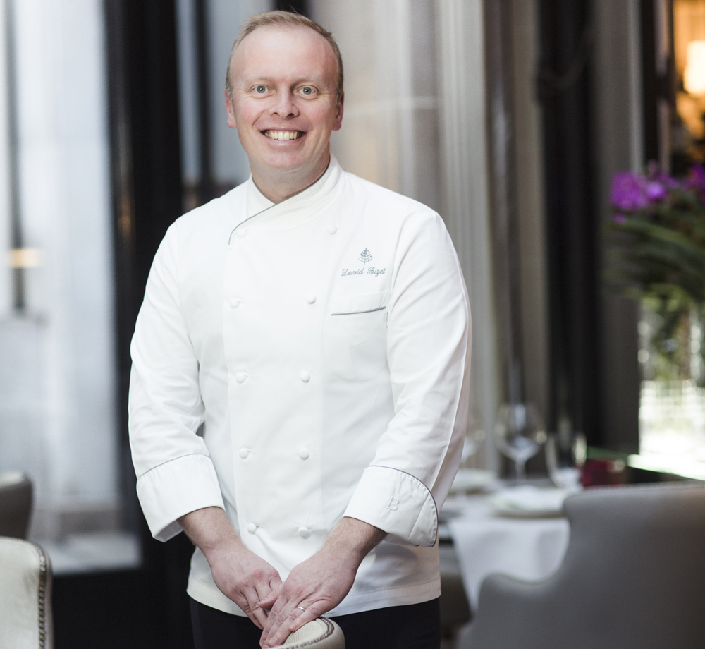 David Bizet Chef at L'Orangerie restaurant Paris