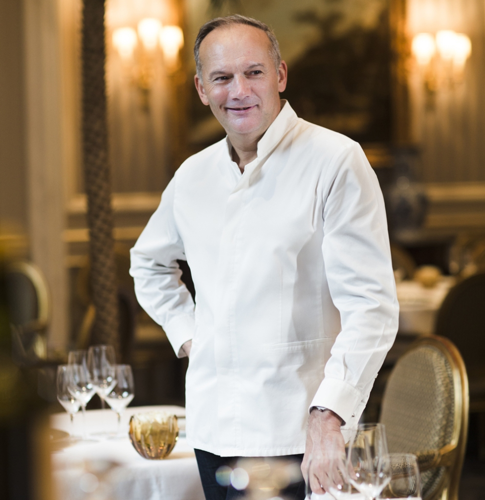 Christian le Squer chef of Cinq restaurant Paris