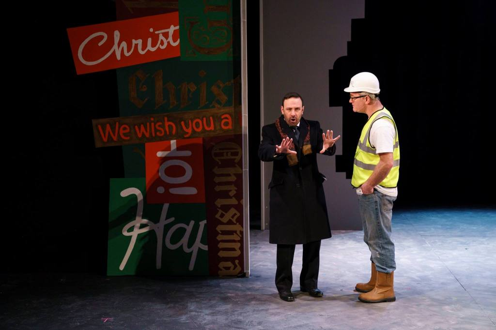 Conor Grimes actor, Alan McKee actor, christmas at lyric theater belfast