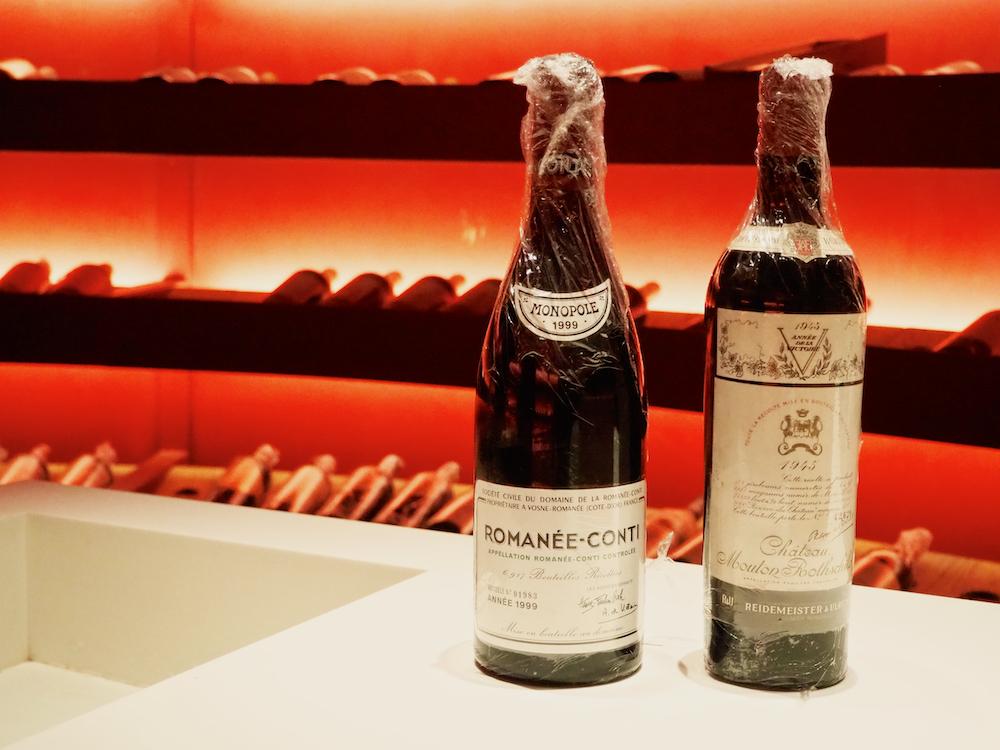 1999 Romanee Conti, Chateau Mouton Rothschild 1945, Grau Roig Hotel cellar