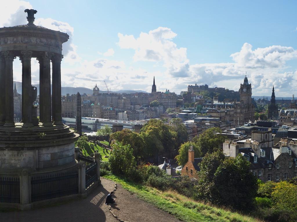 Calton Hill, Edinburgh castle, Arthur's Seat